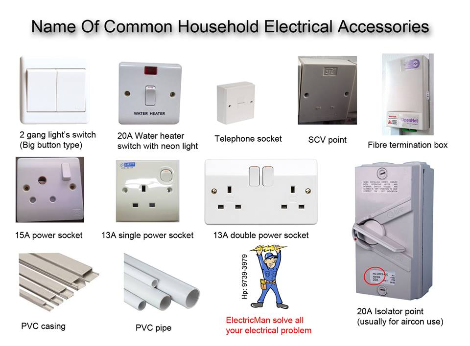 household electrical accessories